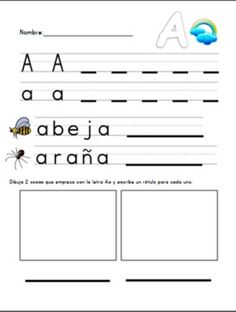 Handwriting/Letters in Spanish