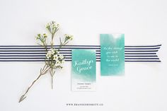 Watercolor Calligraphy Business Card Template by BrandedbyBritt   Wow your girlfriends at the next brunch date or impress your fellow bloggers at the next networking event! This business card design is perfect for any lifestyle blogger, photographer or creative female entrepreneur. Featuring a watercolor background and calligraphy/sans-serif font pair this design is simple, yet bold. Easily edit the background color and font to reflect your own business!