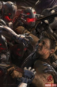 Hawkeye concept art from Marvel's Avengers: Age of Ultron by Ryan Meinerding