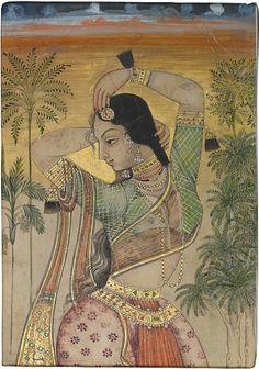 """Dancing Girl"" (Late 17th century Deccan India)"