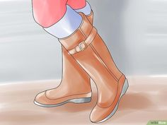 5 Ways to Stretch Boots - wikiHow How To Stretch Boots, 5 Ways, Stretches, Calves, Heels, Life Hacks, Image, Fashion, Heel