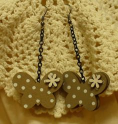Pillangó fülbevaló Butterfly earring