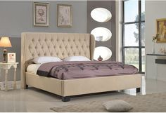 The Schultz platform bed from House of Hampton offers you both style and comfort in the most important room in your house, the bedroom. Masterfully crafted with a long, curving headboard, the Schultz features deluxe microfiber upholstery that is sure to make you and your guests feel like royalty. Complimenting footboard and siderails will carry the look throughout.