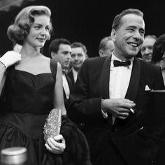 Black Tie Season Is Here. Humphrey Bogart, with Lauren Bacall, 1955.
