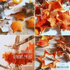 DIY vánoční ozdoby z pomerančové kůry