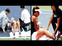 Johanna Konta collapses during second round match  ► US Open 2016.