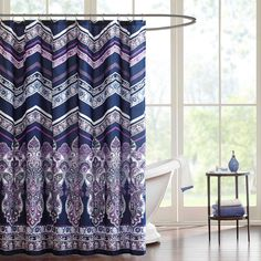 Home Essence Jane Cotton Shower Curtain
