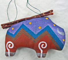 Spiral Spirit Buffalo Ornament created by Peter Ray James