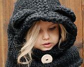 Knitting PATTERNThe Burton Bear Cowl 6/9 month by Thevelvetacorn