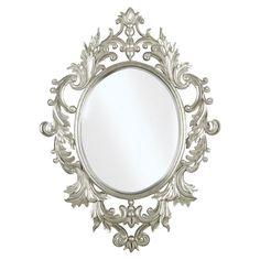 Ornate Silver Mirror.