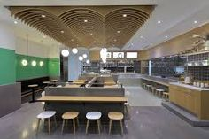 For those of you who intend to make a canteen on university, workplace, or at school, there are some canteen design ideas that you can use the adhering to. Cafe Restaurant, Restaurant Design, Office Canteen, Warehouse Office, Restaurants, Walnut Floors, Food Stands, Hall Design, Cafe Shop