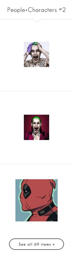 """""""People+Characters #2"""" by agentl70 ❤ liked on Polyvore featuring joker, marvel, deadpool, comics, home, home decor, pictures, art, backgrounds and marvel comics"""