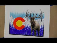 Drawing a Colorado elk -- Time Lapse #elk #colorado #denver #artwork