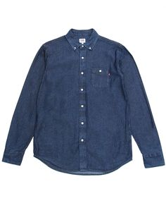 Obey - Commerce Dissent L/S Button-Up Shirt (Indigo)