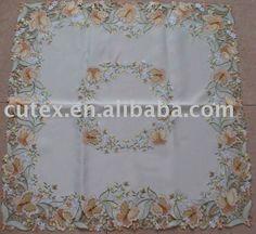 Barato Toalha de com bordados, Compro Qualidade Toalha de mesa diretamente de fornecedores da China:  toalha de mesa bordados     Matéria:   Tecido: cetim (100% poliéster)   Tamanho: 85x85cm, 130x160cm, 130 centím
