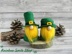 The original Nordic gnome boy and girl will be an excellent decor of your home. Gift for St patricks day Each Gnome is created from hand-cut wool felt, lightly filled with hypoallergenic polyester stuffing and entirely hand sewn. The nose is made of a wooden bead. (In gnomes of