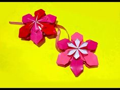 Origami flower ornament. DIY house decor. Amazing DIY necklace. - YouTube