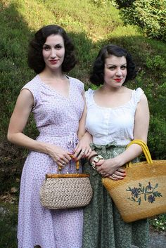 Fleur has an amazing 1940's style wardrobe