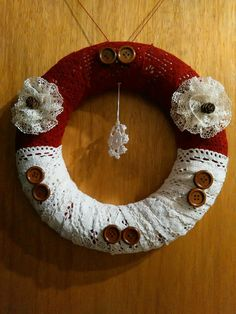 Winter front door wreath