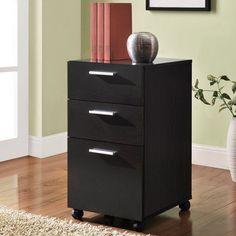 Altra Princeton Mobile File Cabinet - Espresso - 9531096