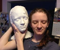 Making a Head Mold by Ehamm on Instructables I made a headmold of myself years ago the same way and use it as a base to have the Theatremasks I make to fit perfectly.