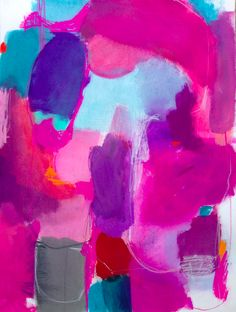 Fuchsia abstract painting. The Blitz - Jenny Andrews Anderson. #abstractpainting #contemporaryart