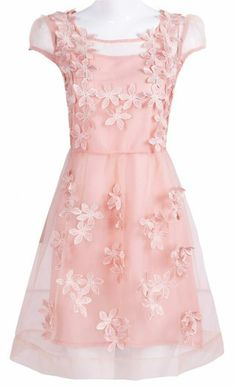 Pretty Dresses, Beautiful Dresses, Awesome Dresses, Lace Dresses, Sweet Dress, Pink Fashion, Women's Fashion, Tween Fashion, Pink Shorts