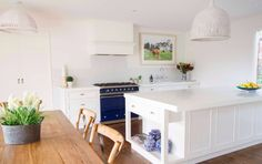Blue Lacanche Cluny in gorgeous Melbourne kitchen_2
