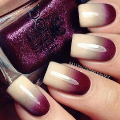 Beautiful ombre purple and cream shimmer