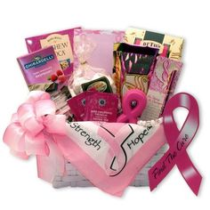 Buy Find A Cure Breast Cancer Gift Basket. More - Find A Cure Breast Cancer Gift Basket. Find A Cure Breast Cancer Gift BasketIncludes:Gift Basket Includes: Cashew Roca toffee Beth's chocolate chip cookies frosted pretzels Ghirardelli Raspberry milk choco Breast Cancer Fundraiser, Breast Cancer Gifts, Breast Cancer Awareness, Cancer Care Package, Raspberry Tea, Gift Baskets For Women, Cricut, Aromatherapy Candles, Spa Gifts