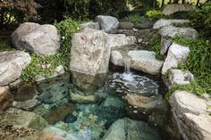 Natural Stone Hot Tubs | ... 12 Ideas in 17 Design Elegant Stone Hot Tub In The Back Yard Gallery