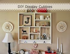 Homemade Display Cubbies via Happy At Home