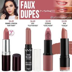 Mac lipsticks 133208101465043459 - MAC Faux Lipstick Dupes Source by Blush Mac, Blush Dupes, Mac Dupes, Drugstore Makeup Dupes, Beauty Dupes, Makeup Swatches, Mac Eyeshadow Dupes, Mac Faux Dupe, Mac Faux Lipstick Dupe
