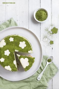 ... matcha lime cheesecake ...saint patricks, st. patty
