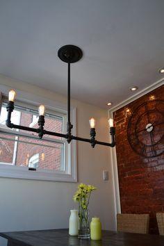 Industrial Light  Steampunk Chandelier Edison by WestNinthVintage, $293.00