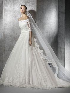ZUREDA wedding dress 3/4 length sleeves