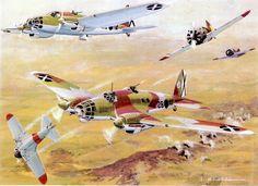 Rata attacking Heinkel 111s SCW
