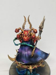 Chaos 40k, Chaos Lord, Thousand Sons, Warhammer 40k Miniatures, Game Workshop, Mini Paintings, Warhammer 40000, Miniture Things, Painting Inspiration