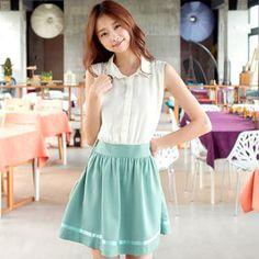 Buy 'Tokyo Fashion – Mock Two-Piece Sleeveless Dress' with Free International…