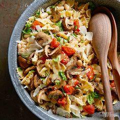 Roasted Tomato and Mushroom Pasta Salad