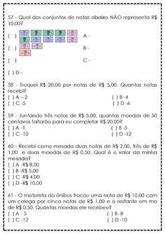 Atividades de Matemática para 5º Ano - Reforço - SÓ ESCOLA Thing 1, Teaching, Education, School, Crafts, Teaching Math, Secondary School, Interactive Activities, Reading Assessment
