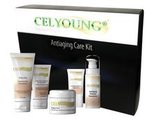Celyoung Antiaging Care Kit by Celyoung. $151.61. created by the Antiaging specialist. to lift, tighten and moisturize your skin!. Dr.Peter Jackisch. with the 5 key Celyoung Antiaging products. Delight the senses with Celyoung Antiaging products for high performance and maximum results. This system will give you immediate, dramatic and preventative results as it addresses the visible signs of aging skin. Pamper yourself and your loved ones at every opportunity. This fan...