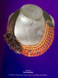 Kumihimo necklace made by Sue Stevenson for Innovative Threads 2001.