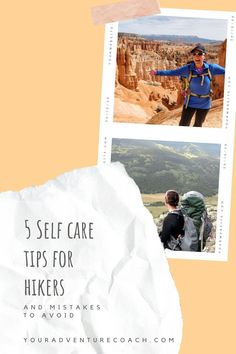 Read on to find out some my most silly hiking mistakes I've made and 5 self care tips for hikers and backpackers that will help you avoid them in the first place! Hiking can take a toll on your body and mind if you let it. Take care of yourself and your hiking partner on the trail and enjoy your next hiking trip even more. Best Hiking Gear, Backpacking Tips, Hiking Tips, Camping And Hiking, Hiking Places, Hiking Quotes, Hiking Essentials, Hiking Photography, Camping Checklist