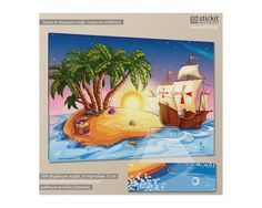 Treasure island, παιδικός - βρεφικός πίνακας σε καμβά,14,90 €,http://www.stickit.gr/index.php?id_product=18964&controller=product