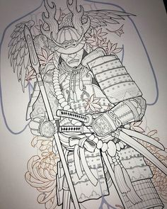 Japanese History, Japanese Art, Oriental, Japanese Tattoo Designs, Samurai Tattoo, Tattoo Inspiration, Honda, Tattoos, Projects