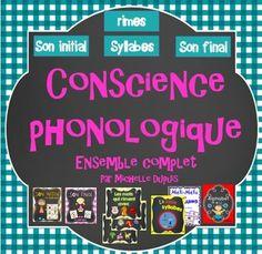 Ensemble complet sur la conscience phonologique: son initial, son final, rimes, syllabes et alphabet.