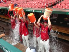 The Cardinals starting rotation took the #ALSIcebucketchallenge