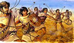 Iberian Balearic Slingers in skirmish battle, Punic War http://www.99wtf.net/category/young-style/urban-style/
