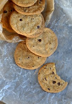 Gluten Free Chocolate Chip Cookie Chips - Can you tell just how thin and chip like they are?